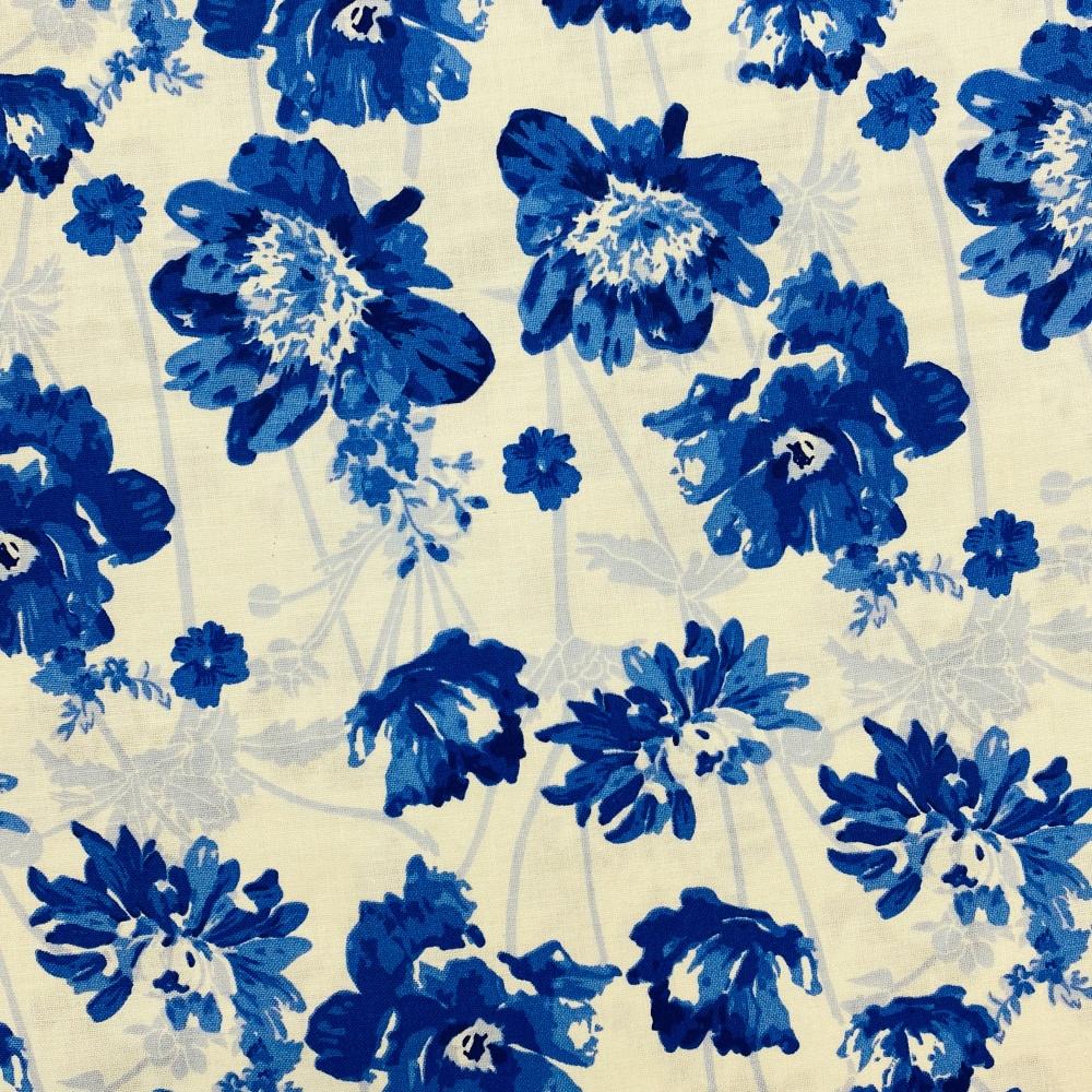 Blue Floral - Price Per Metre