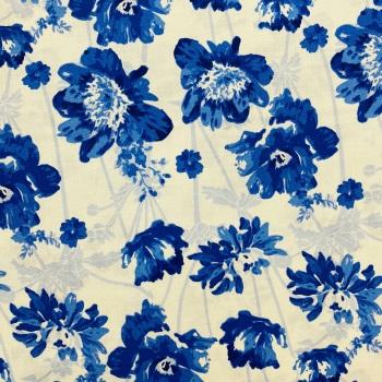 Blue Floral -  Per Metre