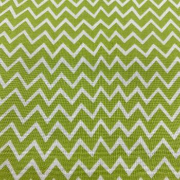 Lime & White Zigzag - Per Metre