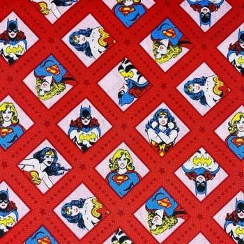 Wonder Woman/Batgirl/Superwoman Red - Price Per Half Metre