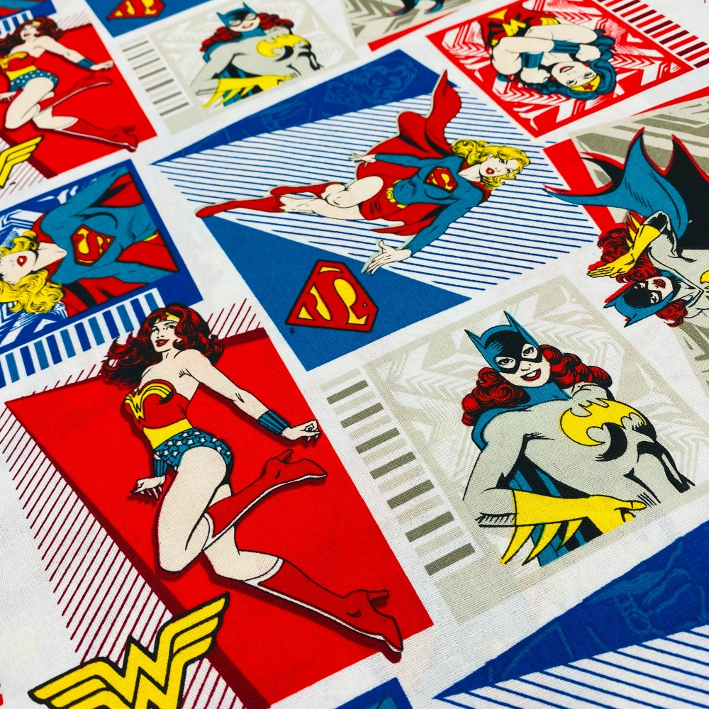 Wonder Woman/Batgirl/Superwoman Squares - Price Per Half Metre