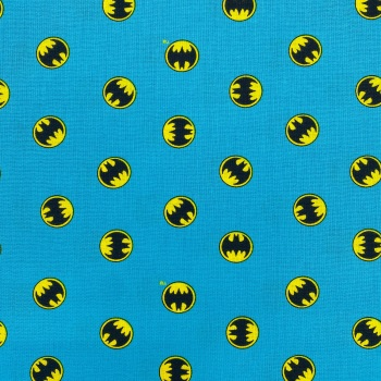 Batman Turquoise Logo - Price Per 1/2 Metre