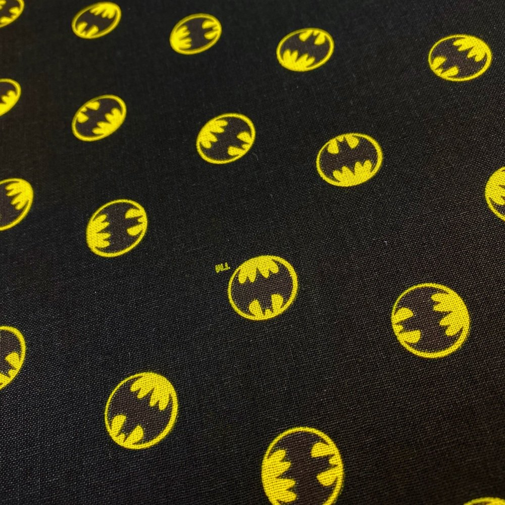 Batman Black Logo - Price Per 1/2 Metre