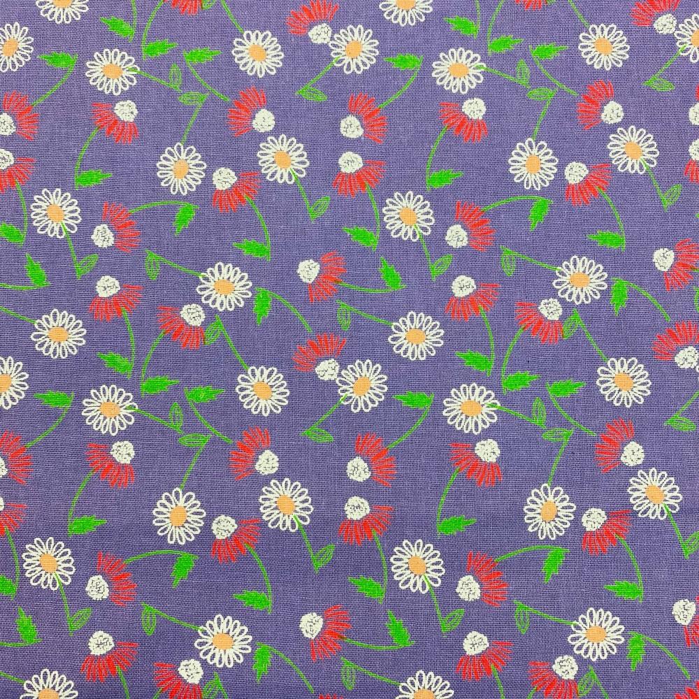 Purple Flower - Per Metre