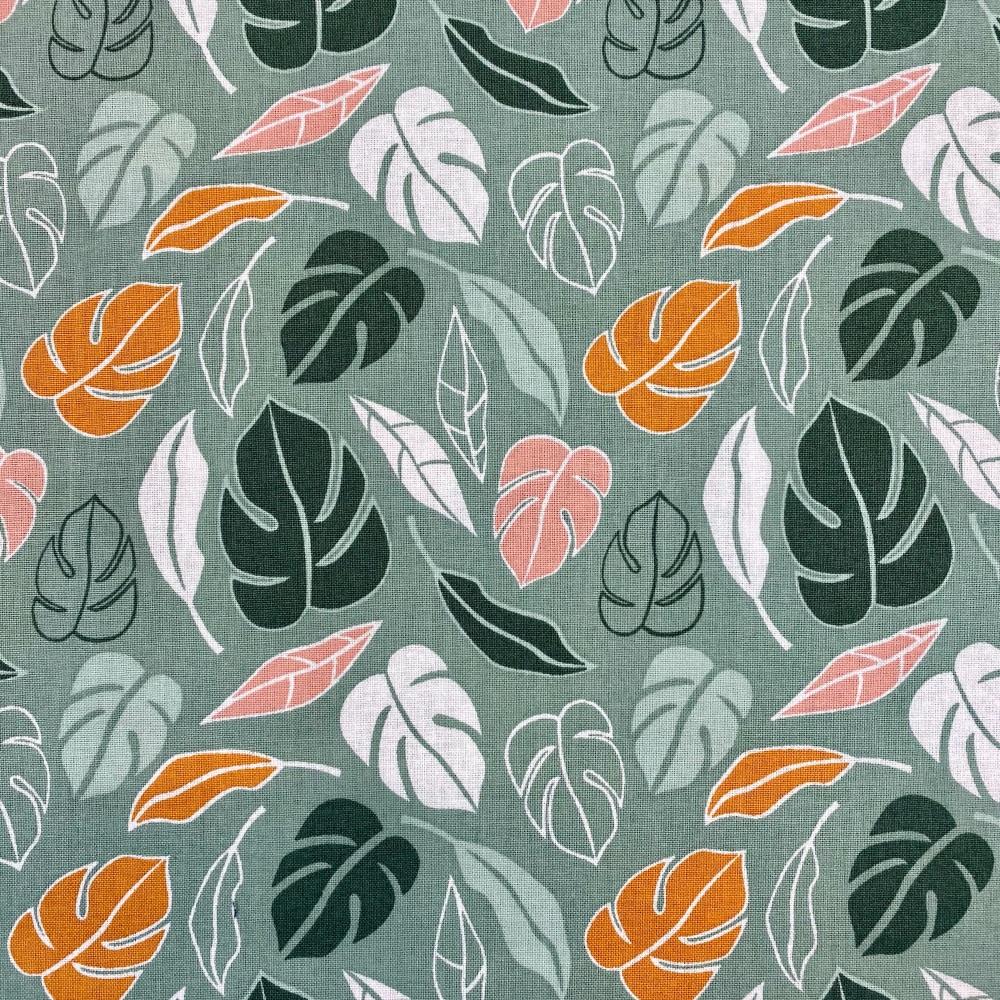 Sage Autumn Leaf - Per Metre
