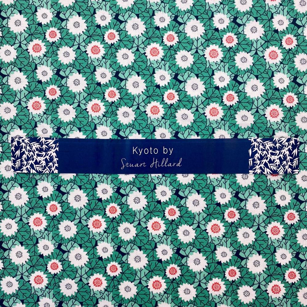 Floral Jade Cotton - per half metre