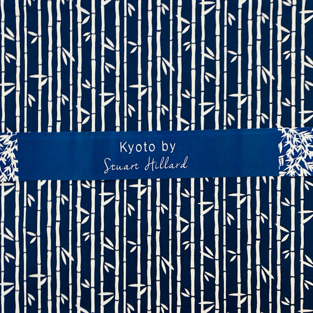 Kyoto Bamboo Navy - Sold By 1/2 Metre