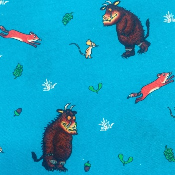 The Gruffalo Turquoise - Sold By Half Metre