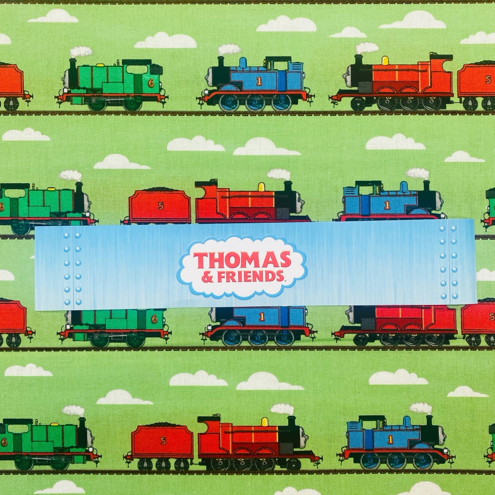 Thomas The Tank Engine (Green) - Sold By Half Metre