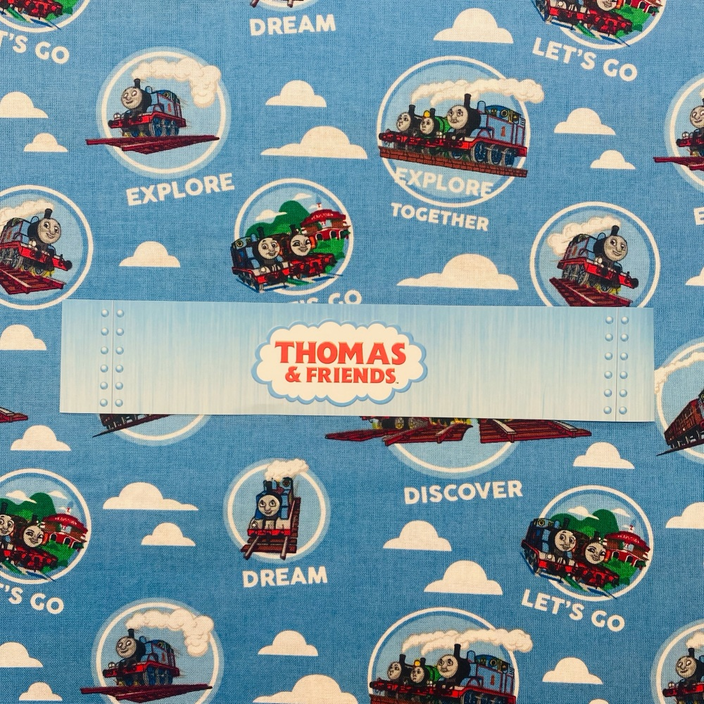 Thomas The Tank Engine (Blue Cloud) - Sold By Half Metre