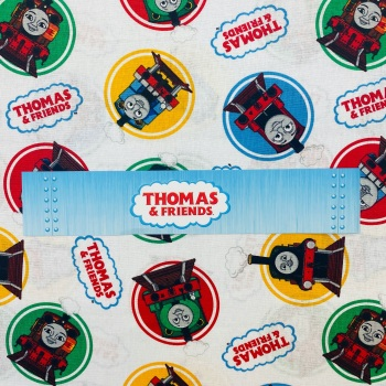 Thomas The Tank Engine (White) - Sold By Half Metre