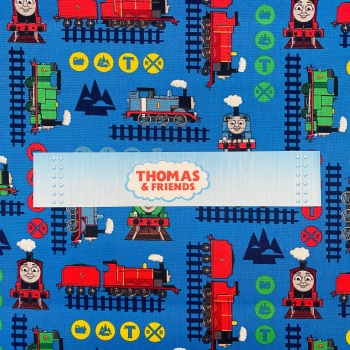 Thomas The Tank Engine (Dark Blue Trains) - Sold By Half Metre