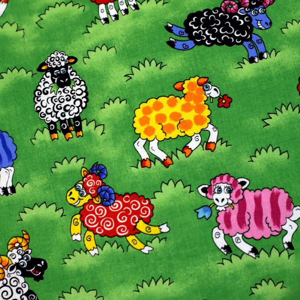 Cartoon Sheep - per half metre