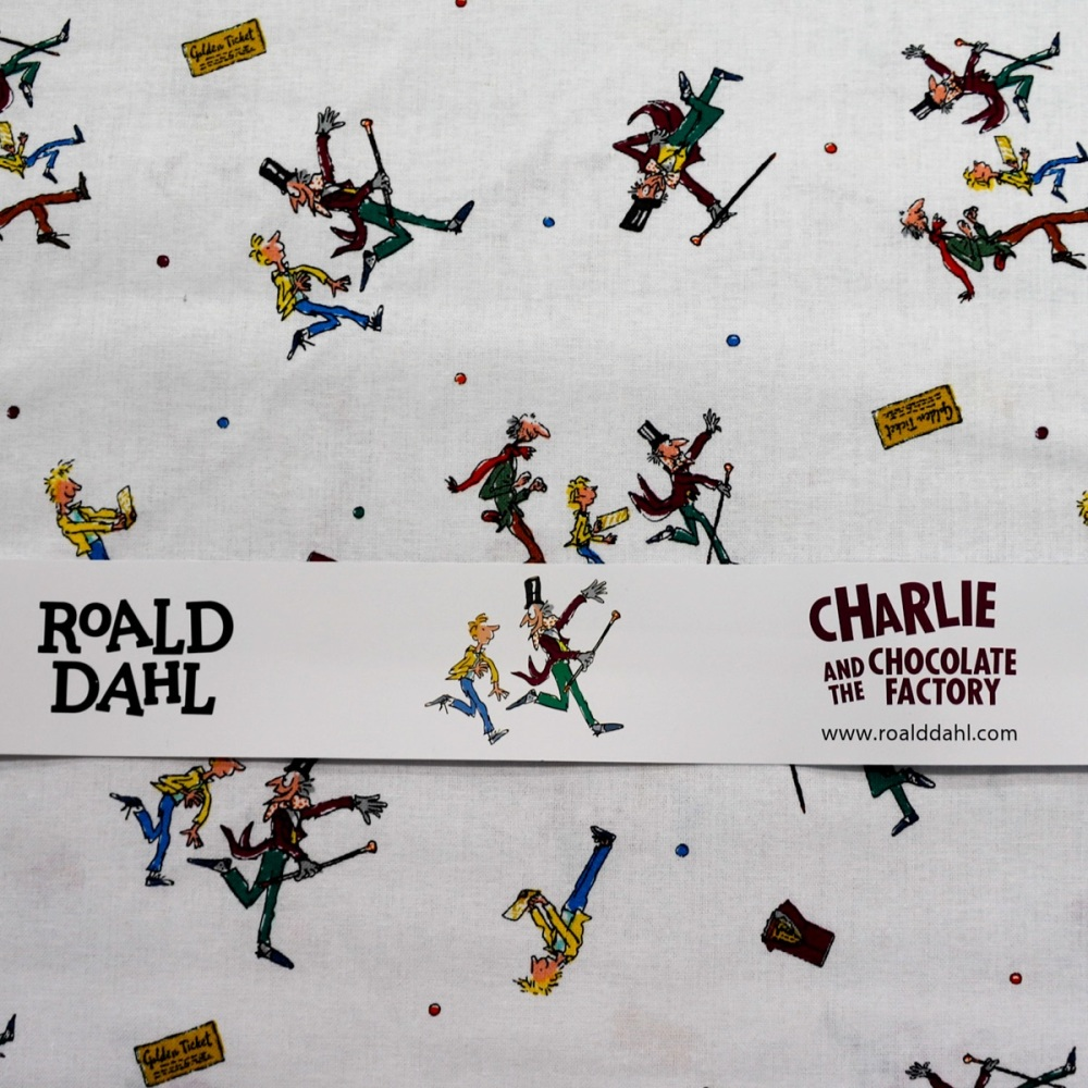 100% Cotton - Charlie and the Chocolate Factory - per half metre