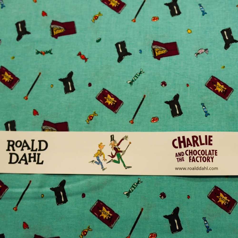100% Cotton Charlie and the Chocolate Factory -per half metre