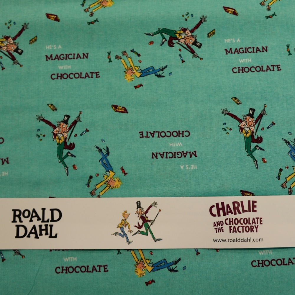 100% Cotton - Licenced - Charlie and the Chocolate Factory - per half metre