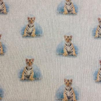 80% cotton/20% polyester Tiger - per half meter