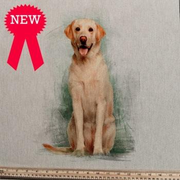 80%cotton/20% polyester Labrador Cushion Panel