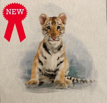 80%cotton/20% polyester Tiger Cushion Panel