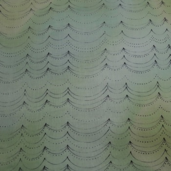 100% Cotton Shaded Green  - 1.5 metre piece.