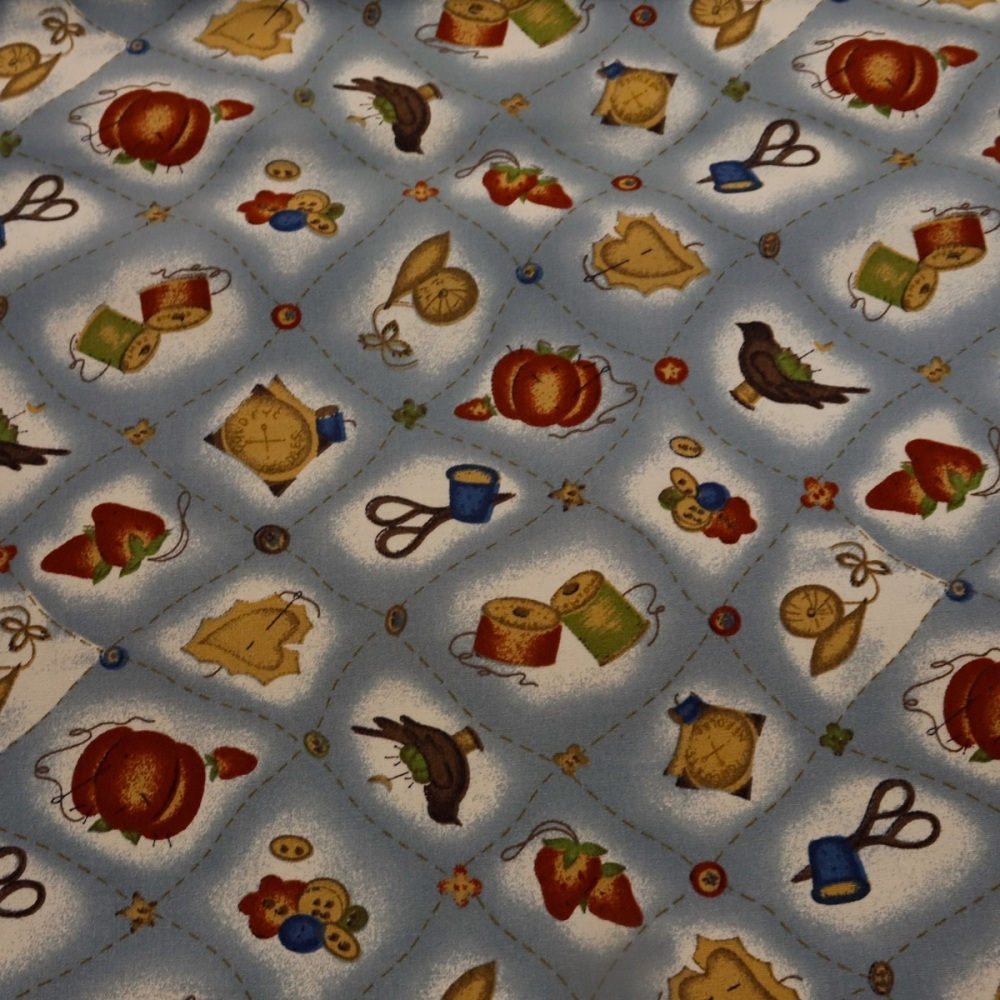 100% Cotton Sewing Notions Design - 1.30 metre piece