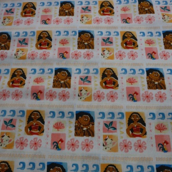 100% Cotton Moana Disney Print - 1 metre