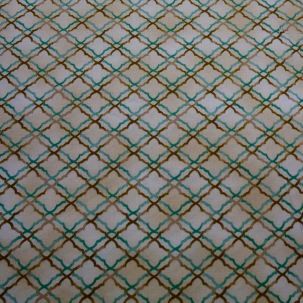 100% Cotton Trellis Design - 60 cm