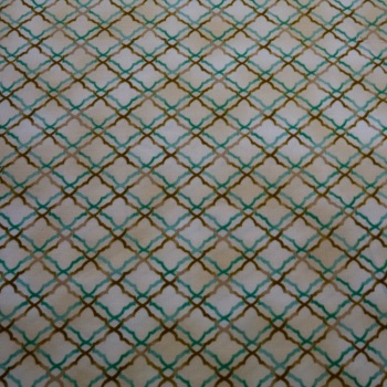100% Cotton Trellis Design - 60 cm