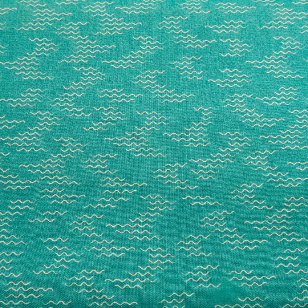 100% Cotton Lily Pad Waves by Debbie Shore - 85cm piece