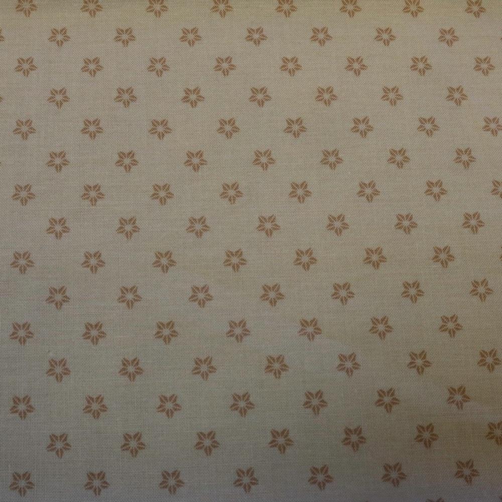 100% Cotton Cream Print - 1.56 metre piece