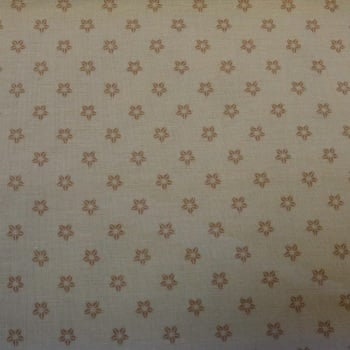 100% Cotton Cream Print - 1.56 metre piece