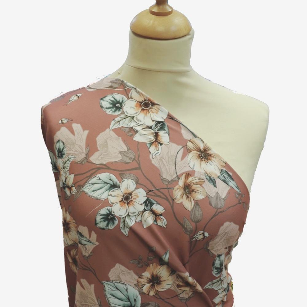 Blush Floral - Per Half Metre