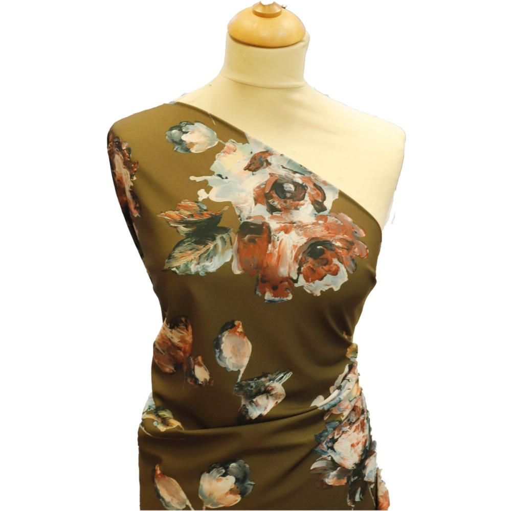 Designer Floral (Camo) - Per Half Metre