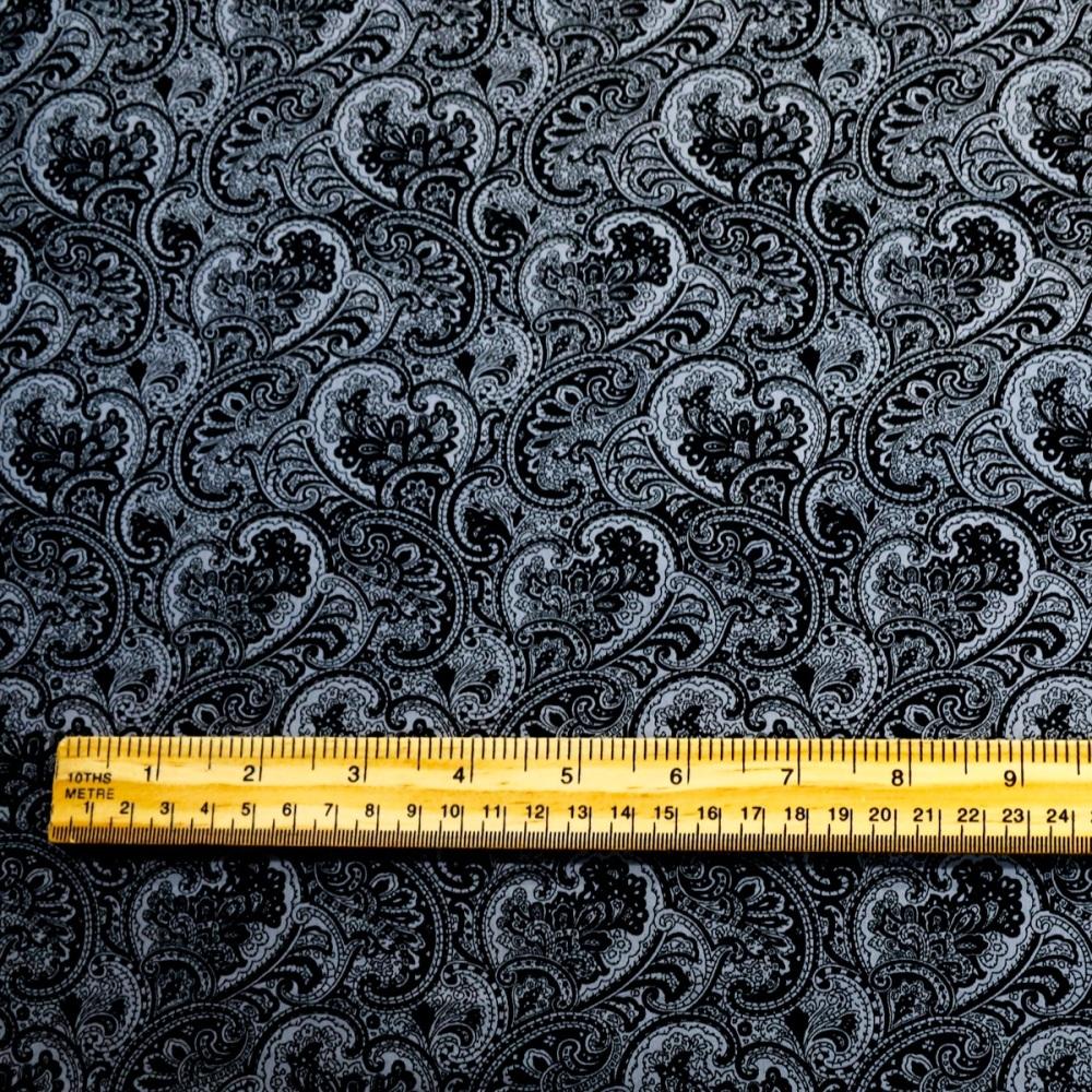 100% Cotton poplin paisley - per half metre