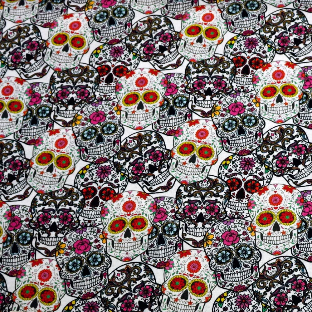 100% Cotton Skulls design - per half metre