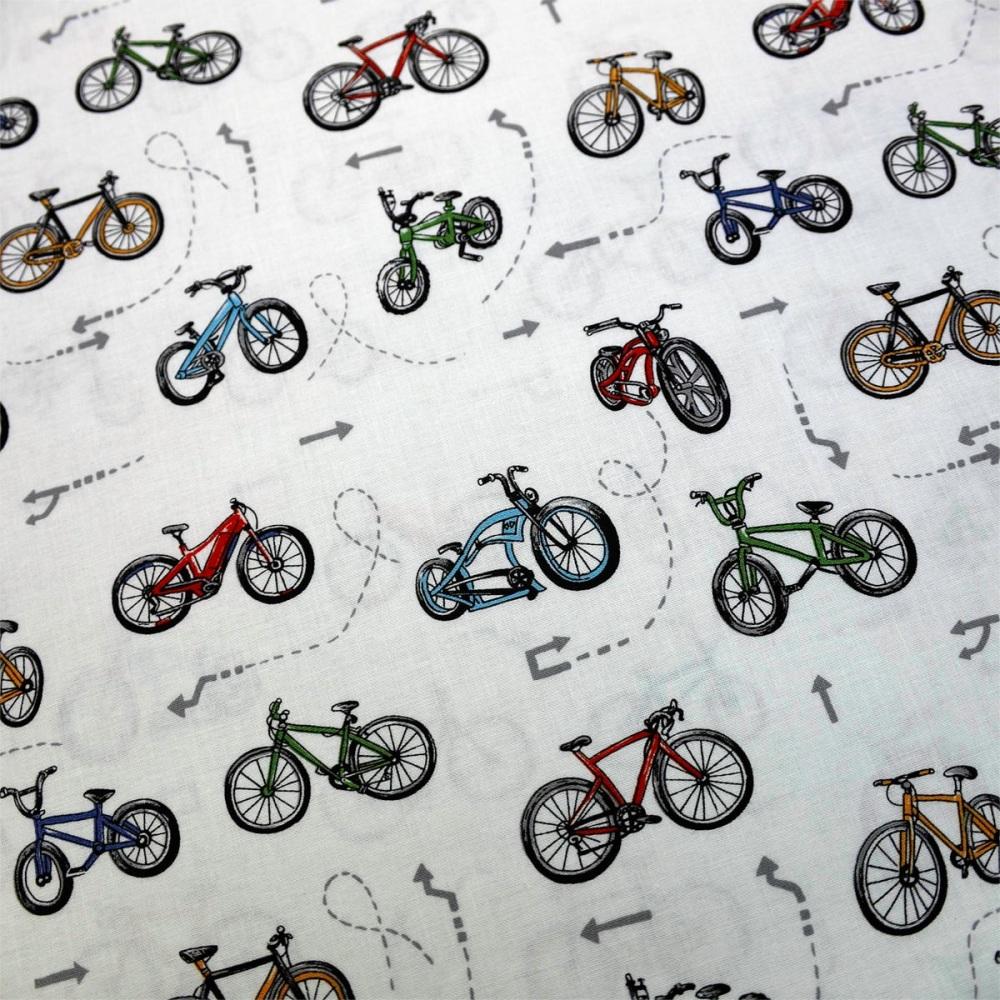 New 100% Cotton Bicycle design - per half metre