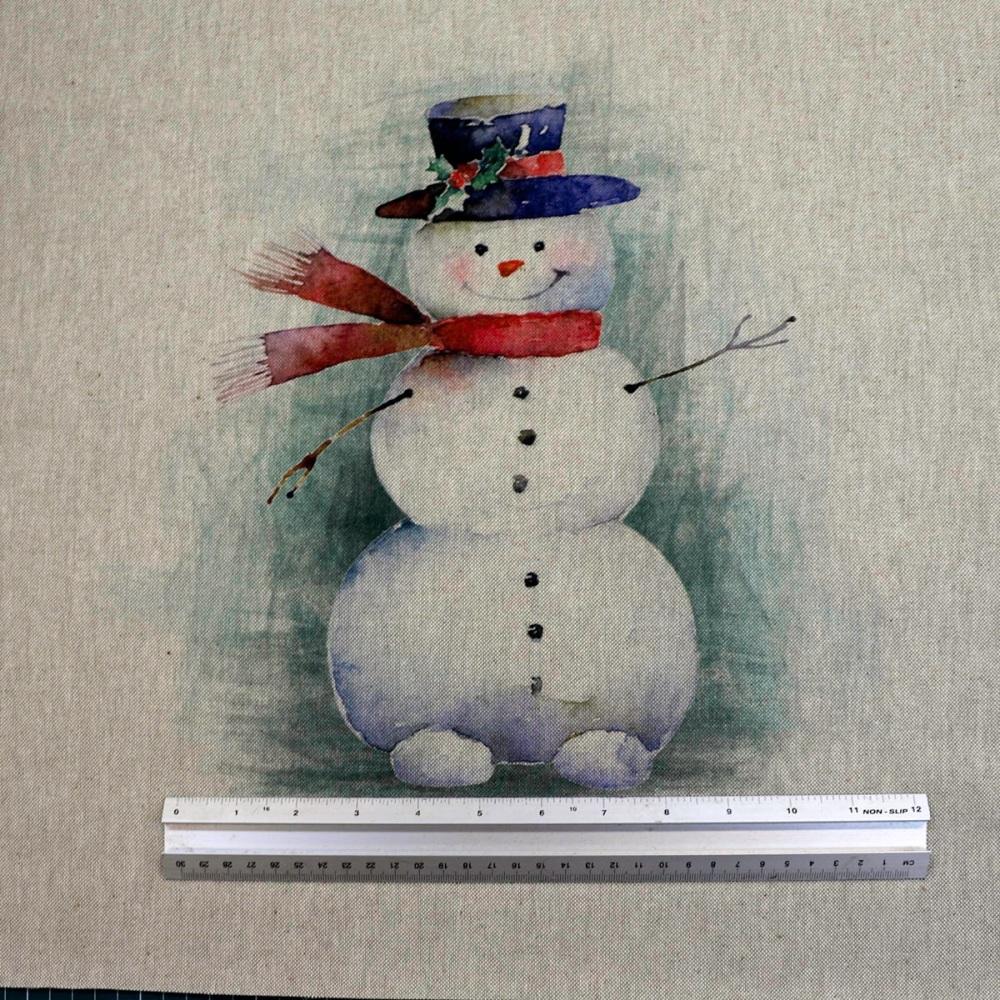 New  - Snowman Cushion Panel - each
