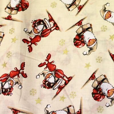 Cream & Red Santa