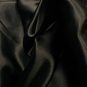 Black Poly Satin
