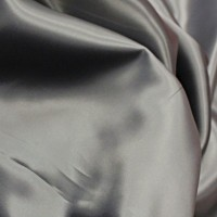 Siver Grey Poly Satin
