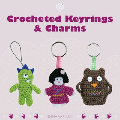 Crocheted key rings and charms