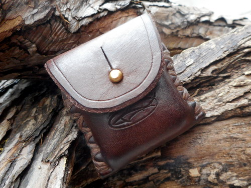 Hand-Stitched Leather Zippo Leather Case/Pouch