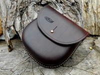 BESPOKE - 'Woodland' Bushcraft Pouch with Sam Brown Stud Fastening - Hand Stitched (45-5100)