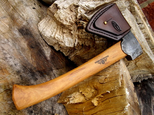 HAND STITCHED - Gransfors Bruks - Small Forest Axe Sheath with Sam Browne S