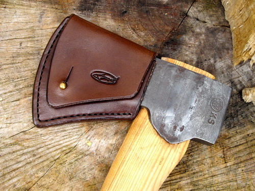 HAND STITCHED - Gransfors Bruks - Small Hatchet Sheath - Hand Stitched Leat