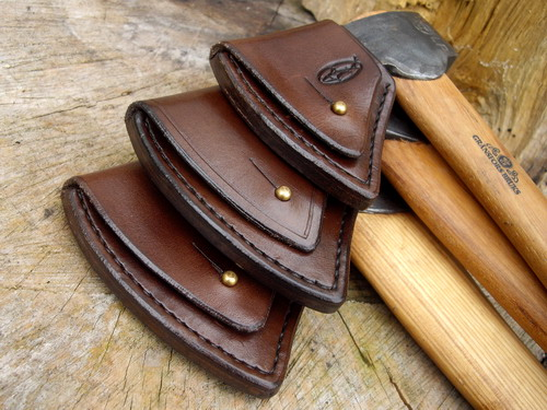 HAND STITCHED - Gransfors Bruks - Wildlife Hatchet Sheath with Sam Browne S