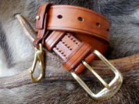 leather-belt and belt loop light brown