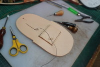 12) Handstitching of the Belt loop completed.