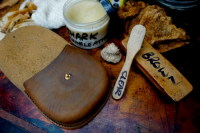 21) finishing off with our own nourishing balm...feeds the leather