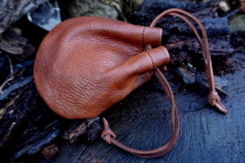 Leather-soft pouch-vintaged -possibles-on own